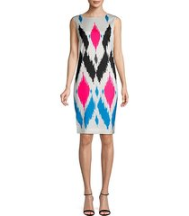 sultana printed silk-blend sheath dress
