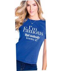 camiseta adulto femenino azul rey marketing personal