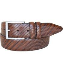 lejon men's the beveled edge leather italian calfskin dress belt