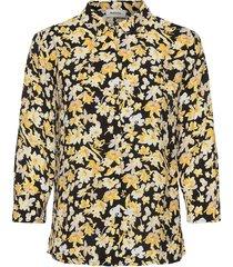 casey print shirt långärmad skjorta gul modström