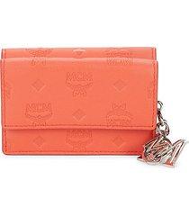 klara monogram leather snap wallet