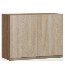armário 2 portas madeira/aveiro be mobiliário marrom
