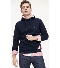 tommy hilfiger men's regular fit diagonal stripe hoodie desert sky - xxl