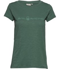 w gale tee t-shirts & tops short-sleeved grön sail racing