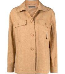 alberta ferretti spread-collar light jacket - neutrals