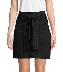 tie-waist mini skirt