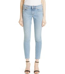 women's givenchy faded & frayed jeans, size 31 - blue