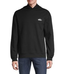 x ray men's sequin-embellished hoodie - black - size s
