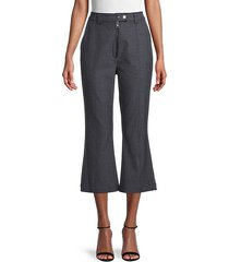 lucien cropped flare plaid pants