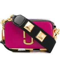 marc jacobs bolsa transversal mini de couro - rosa