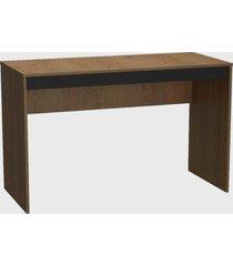mesa para escritã³rio b23 mel e preto nova mobile - marrom - dafiti