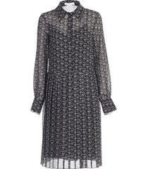 see by chloé dress l/s chemisier w/plisse in front