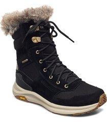 ontario tall plr wp black shoes boots ankle boots ankle boot - flat svart merrell