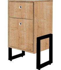 mesa de cabeceira wooli 2 gavetas natura - fit mobel