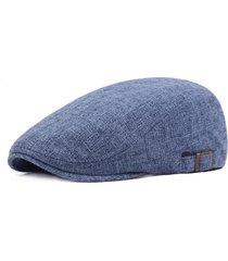 berretto da berretto in lino a righe dell'annata degli uomini casual travel gorge di giornale di viaggio per i soldati in avanti