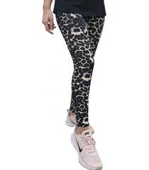 calza leggings leopardo negra mlk