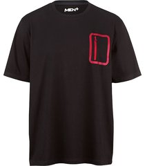t-shirt men plus svart::ljusröd