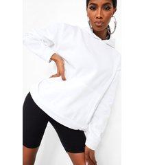 oversized overhead hoodie met zakdetail, ivory