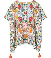 printed beach tunic