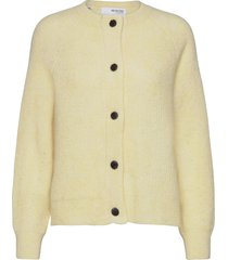 slflulu ls knit short cardigan gebreide trui cardigan geel selected femme