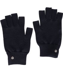 rick owens blue wool gloves