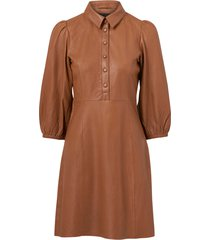 skinnklänning yasruvenda 3/4 leather dress