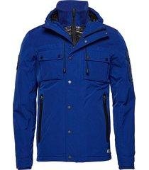vessel jacket parka jas blauw superdry