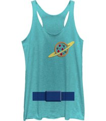 fifth sun disney pixar women's toy story aliens suit halloween tri-blend tank top