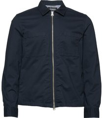 overshirt, long sleeve, two patched tunn jacka blå marc o'polo