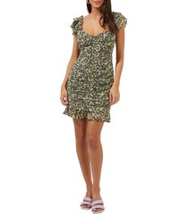 women's astr the label floral ruched dress, size small - black