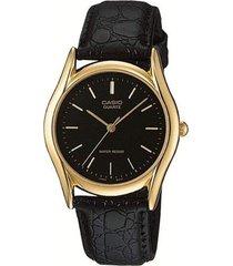 reloj analógico hombre casio mtp-1094q-1a - negro  envio gratis*
