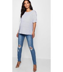 maternity over the bump skinny jeans, blue