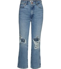 retro straight raka jeans blå wrangler