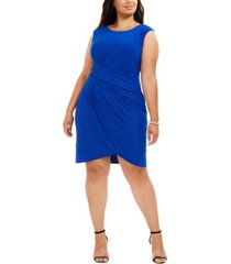 jessica howard plus size side-ruched dress