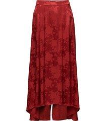 settia skirt ms18 knälång kjol röd gestuz