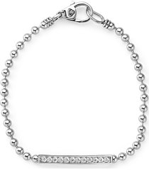 women's lagos caviar spark diamond bar bracelet