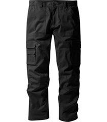 pantaloni cargo con teflon regular fit straight (nero) - bpc selection