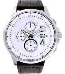 reloj marrón montreal pulsera