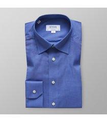 eton heren overhemd licht herringbone flannel hidden button-down