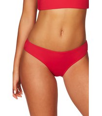 sea level bikini bottoms, size 4 us in red at nordstrom