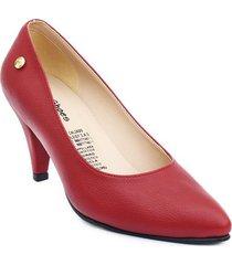 priceshoes calzado dama ejecutivo tacon 542675rojo