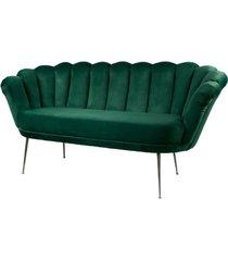 sofa zielona dwuosobowa tapicerowany lux-4