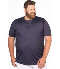 camiseta longford henley plus size azul marinho - azul marinho - masculino - dafiti