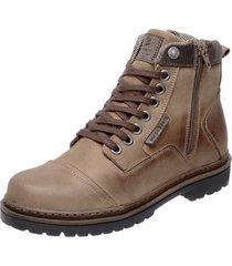 bota coturno em couro mega boots 6017  - masculino - dafiti