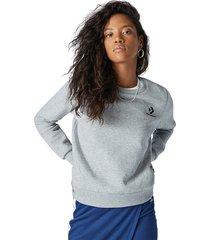converse sudadera star chevron embroidered crew para mujer grey