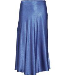 alsop skirt 10447 lång kjol blå samsøe samsøe