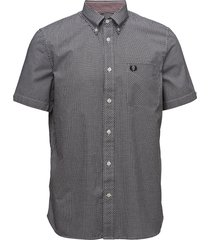 classic gingham shirt kortärmad skjorta svart fred perry