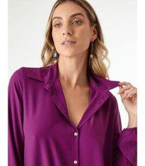 vestido chemise botão costas - zinzane feminino - feminino