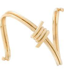 annelise michelson bondage bracelet - metallic