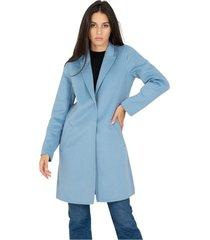 coat in light blue cloth